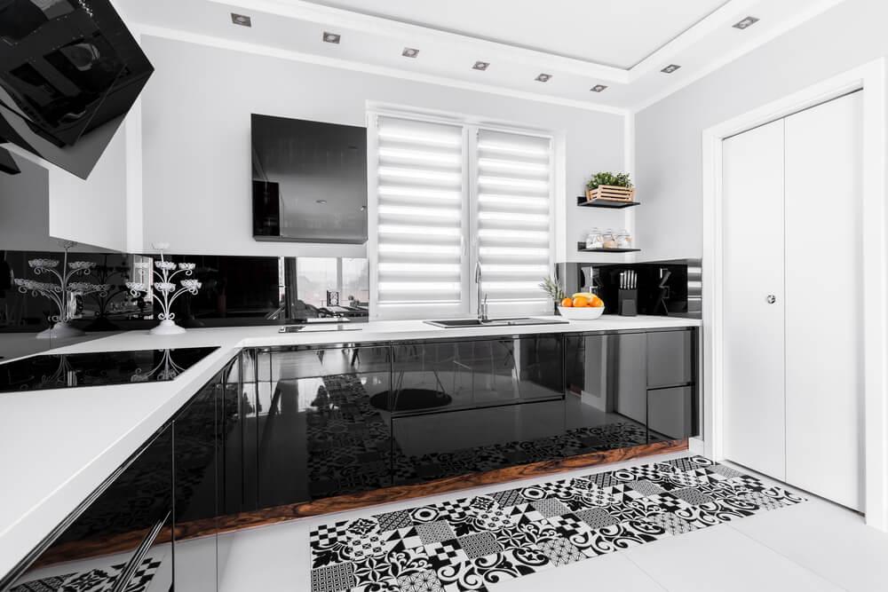 Rolety wewnętrzne w kuchni