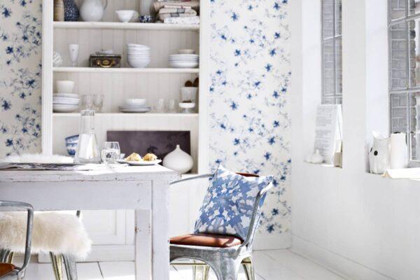 Tapety w niebieskie kwiatki