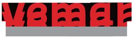 Szaro czerwone logo Vemar